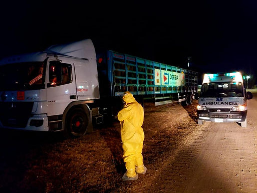 Camionero con Covid-19 condujo casi dos mil kilómetros sin contagiar a nadie