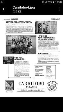 Balance del primer año de Gestión en la Localidad de Carrilobo