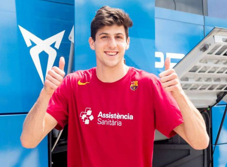 Básquet: Leandro Bolmaro renovó su contrato con Barcelona