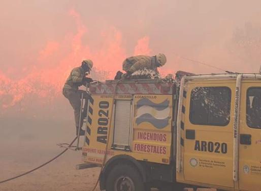 Los incendios no aflojan en el norte cordobés
