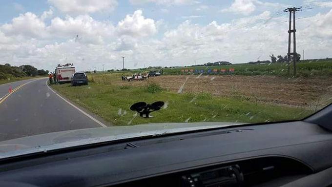 Accidente sobre Ruta 13 entre Luque y Villa del Rosario