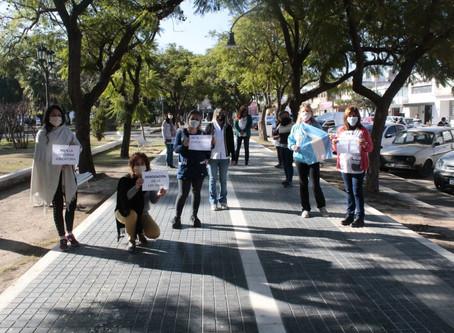 Docentes y Jubilados protestan en Villa del Rosario