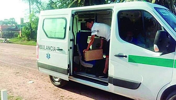 Detuvieron una ambulancia que trasladaba fernet y gaseosas en Santiago del Estero