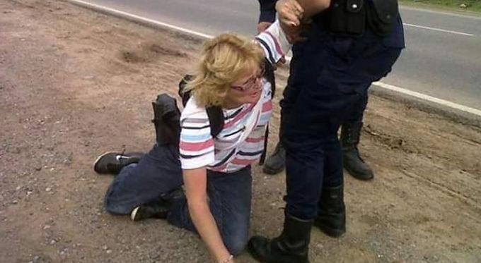 Detuvieron a Sofía Gatica mientras protestaba contra fumigaciones en Dique Chico