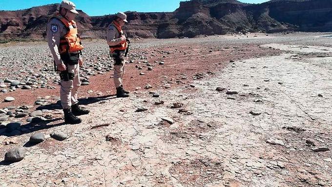 Encontraron huellas de un dinosaurio en Neuquén