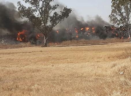 Oncativo: Incendio en Parque Industrial