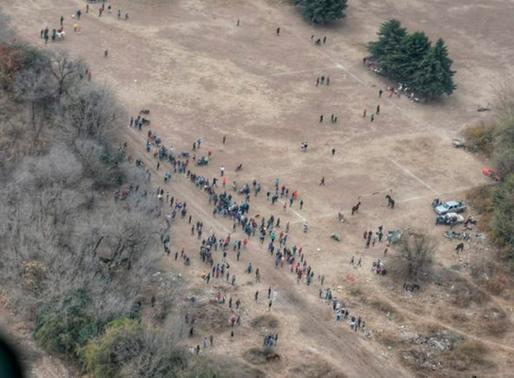 Helicóptero policial dispersó una carrera cuadrera clandestina