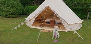 bell tent in garden
