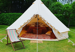 bell tent hire glamping