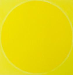YELLOW CIRCLE ONE | Öl auf Leinwand, 100 x 100 cm | 2020