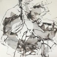 EDITH STEINER, VERWANDLUNG 4, Serie, Grafit-Kreide / Lavur auf Papier, 32 x 24 cm, 2020, 250 Eur