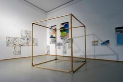VIOLETT SPACES, PLAN C, SÜDÖSTLICH I / II | Ausstellungsansicht Orangerie München 2020