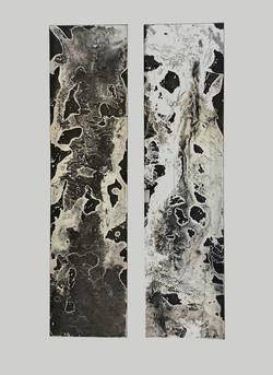 LOST WORLD – DUO | Radierung | Aquatinta auf Kupfer, 40 x 50 cm | 2020