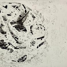Ulla von Gemmingen, Lost World - Intermezzo, Ätzradierung 70 x 50 cm, 2020, 468 Eur