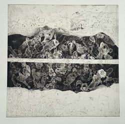 LOST WORLD - KOSMOGENIE | Ätzradierung / Aquatinta, 36 x 36 cm Kupfer | 2021
