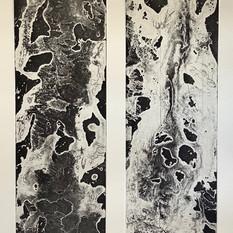 Ulla von Gemmingen, Lost World - Duo, Ätzradierung, 70 x 50 cm, 2020, 468 Eur