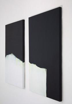 ALPIN 1 + 2 | Diptychon, Öl auf Leinwand, 140 x 100 | 2017