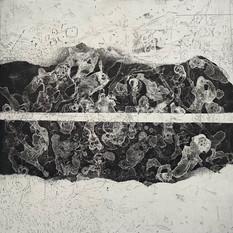 Ulla von Gemmingen, Lost World - Kosmogonie, Ätzradierung 70 x 50 cm, 2020, 468 Eur
