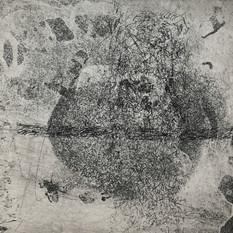 Ulla von Gemmingen, poetic galaxy 1, Ätzradierung, 40 x 40 cm, 2020, 295 Eur