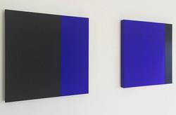 BLUE HARMONY IV | Öl auf Leinwand, je 60 x 60 cm | 2019