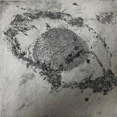 Ulla von Gemmingen, poetic galaxy 4, Ätzradierung, 40 x 40 cm, 2020, 295 Eur