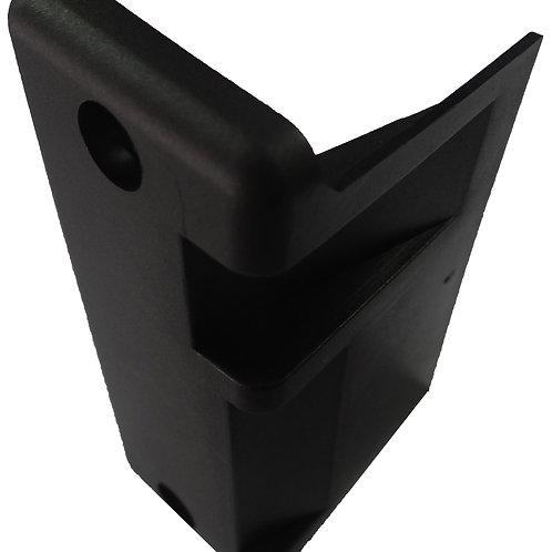 Parte plástica batente fechadura com abertura para