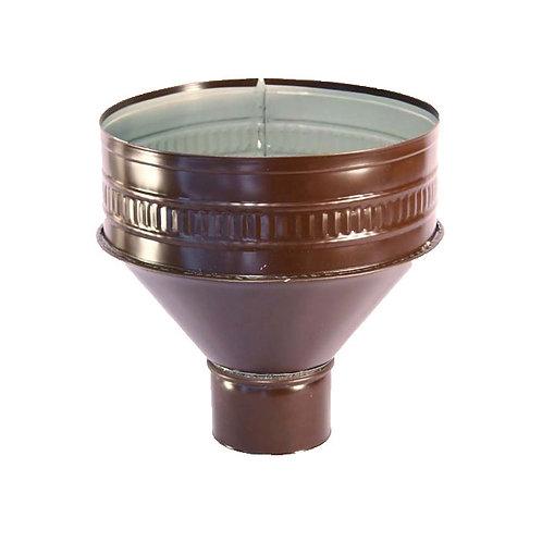 Воронка водосливная оцинк, окран, ф100-150