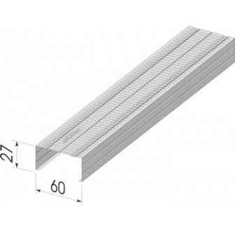 Строительный профиль ПП 60*27-0,45- оцинк КР 3м