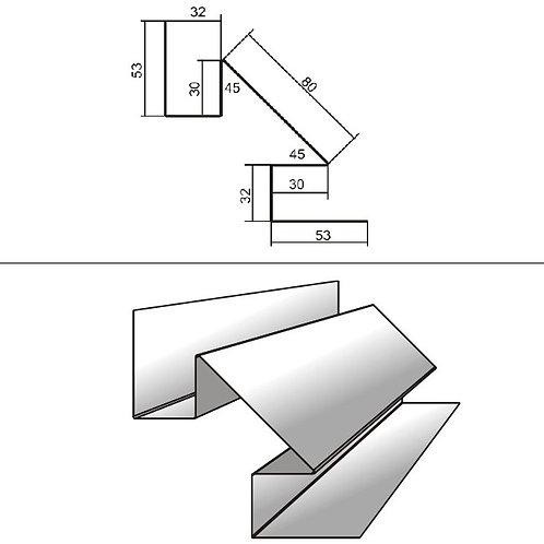 Сложный внутренний угол СВУ-БХ-32 окраш PRINTECH