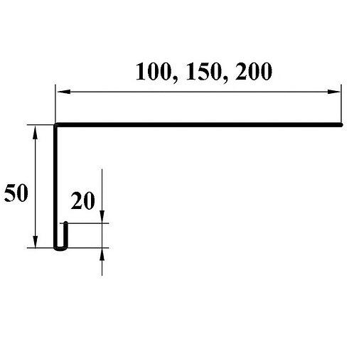 Планка обрамления окна окраш 2м