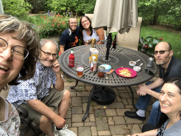 Back yard hangouts with Fawkes' family