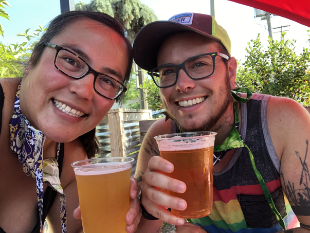 Birthday beer at our favorite brewery
