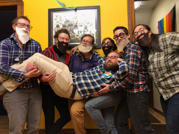 A beard-themed birthday party for our friend