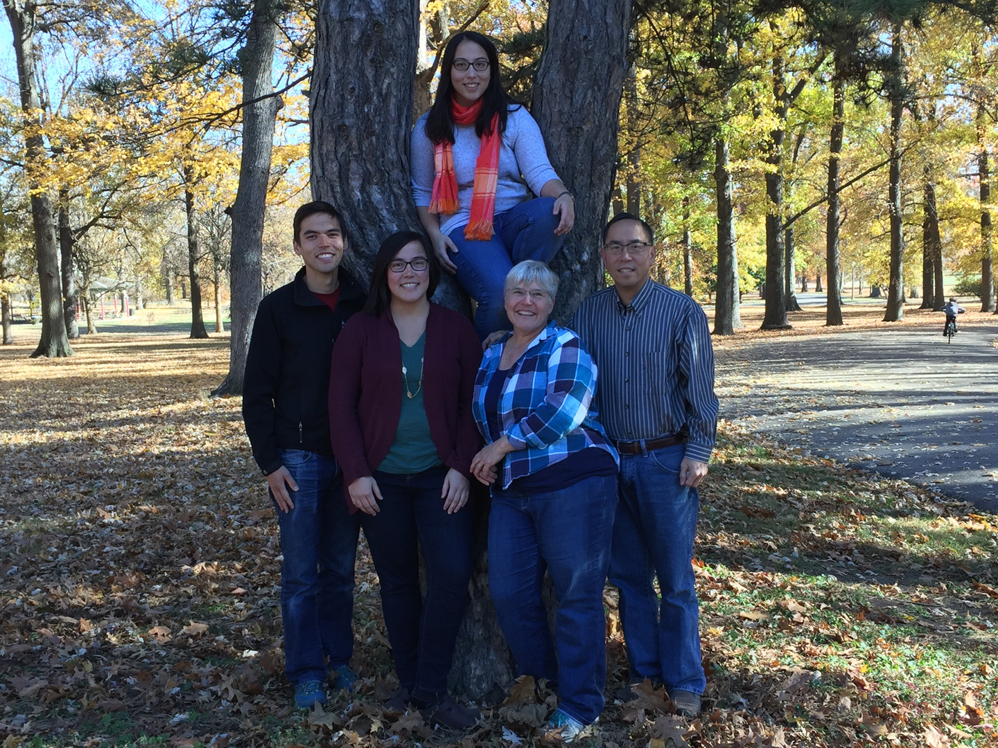 Visiting Robyn's family at Thanksgiving