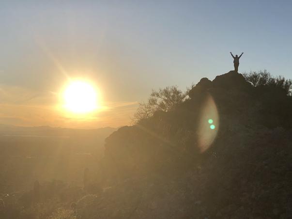 Sunset in the Tucson desert