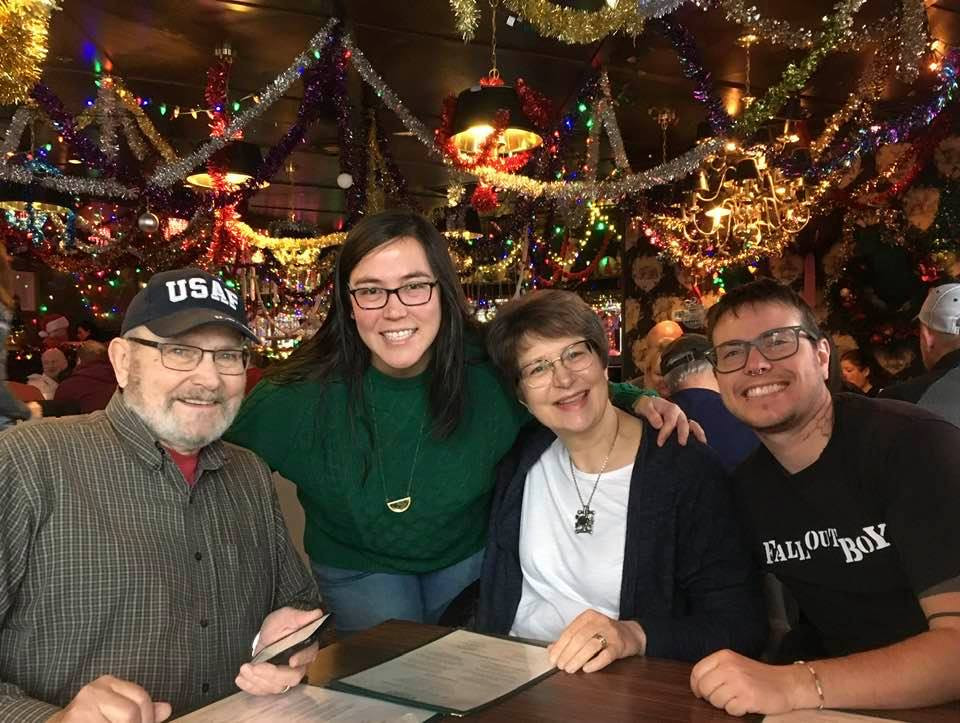 Brunch around Christmas time with Fawkes' parents