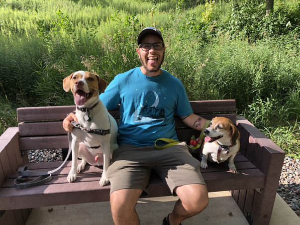 Happy pups at a local park