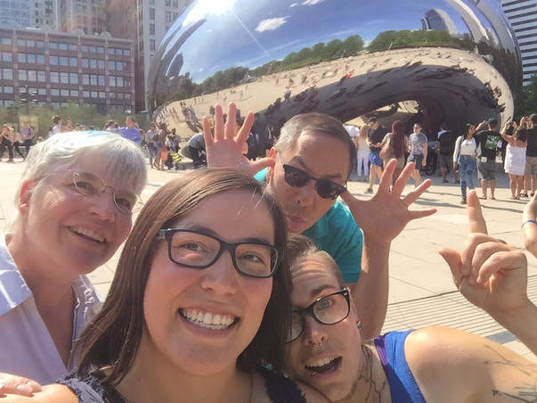 Exploring Chicago with Robyn's parents
