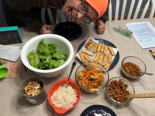 Robyn made a lettuce wrap feast