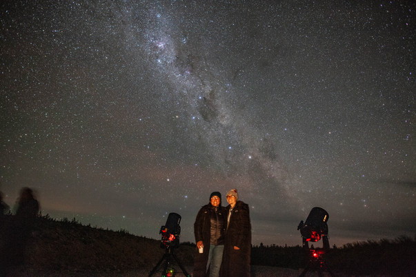 Stargazing on New Years Eve in New Zealand