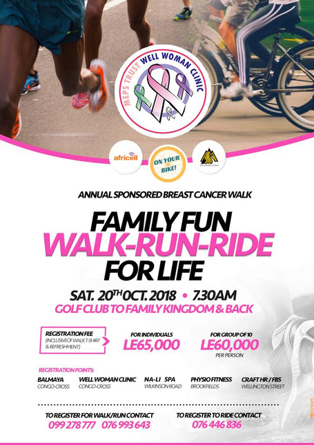 MEPS Trust Well Women Clinic 2018 Fun Sponsored WALK-RUN-RIDE for LIFE