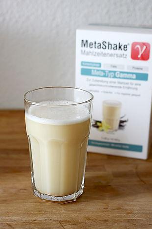 MetaShake Mahlzeitenersatz Meta-Typ Gamma MetaCheck Gen-Diät abnehmen DNA-Analyse Stoffwechsel