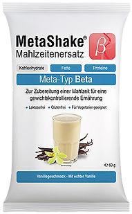 Meta-Typ Beta MetaShake Mahlzeitenersatz MetaCheck Gen-Diät CoGAP abnehmen DNA-Test