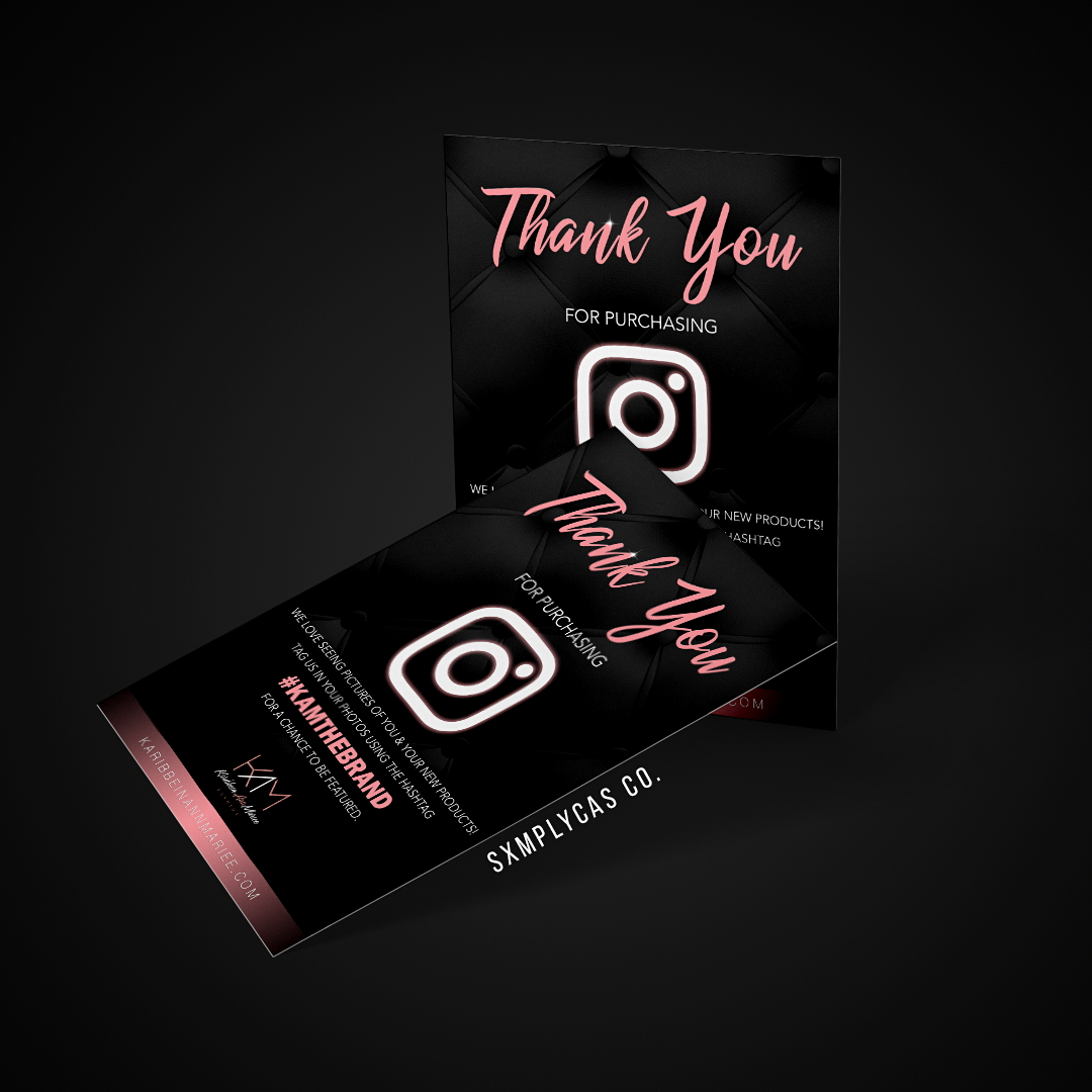 Thank You cards mockup