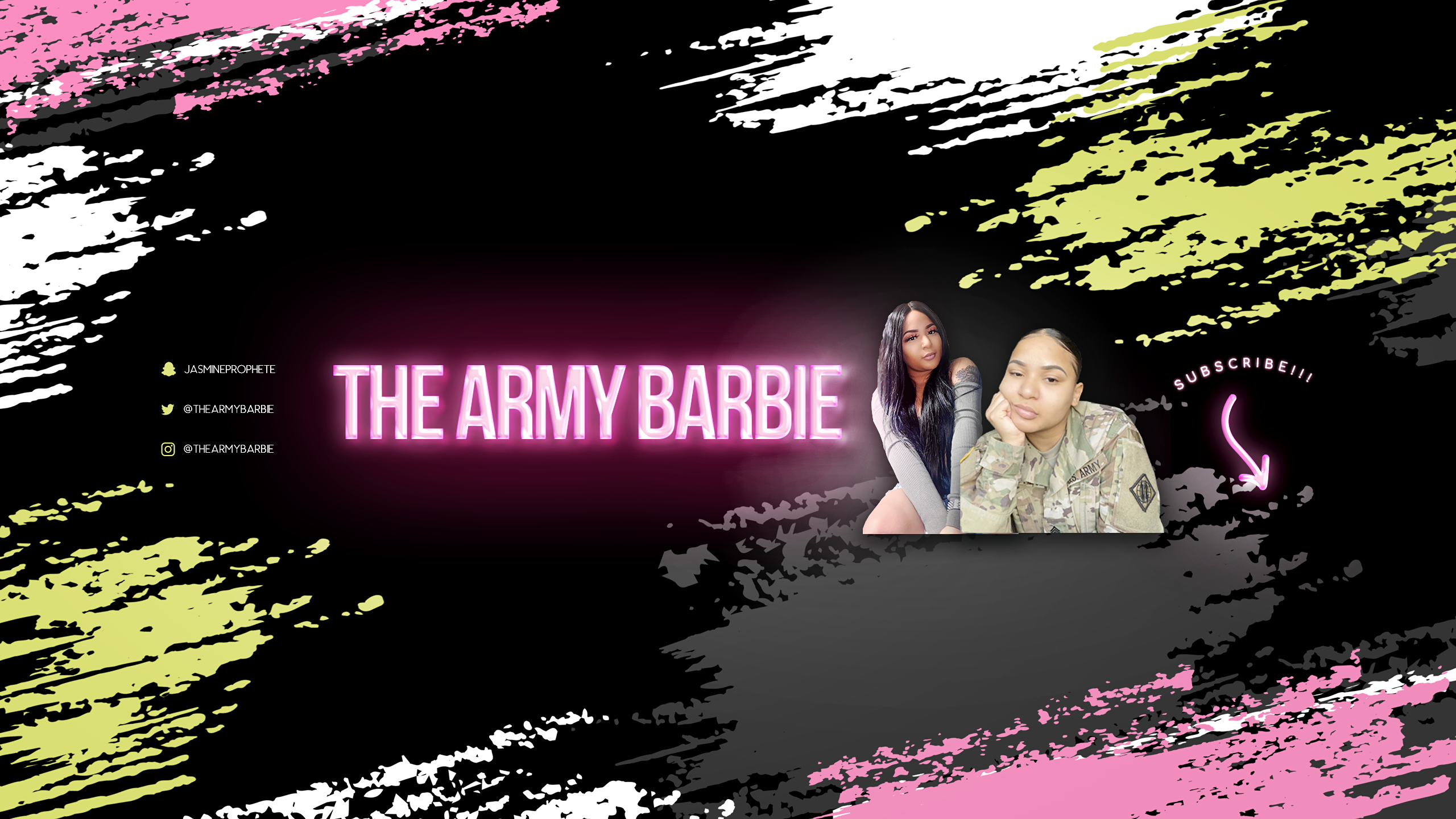 The Army Barbie YouTube Banner