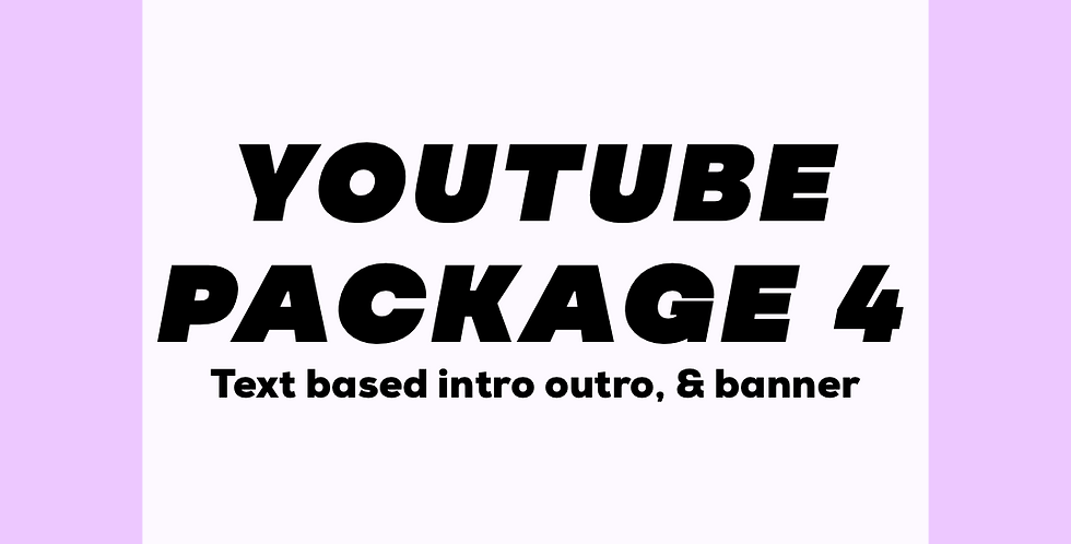 Text-based Intro, Outro, & Banner
