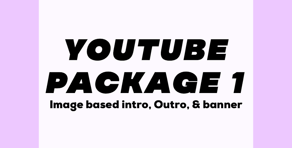 Image-based Intro, Outro, & Banner