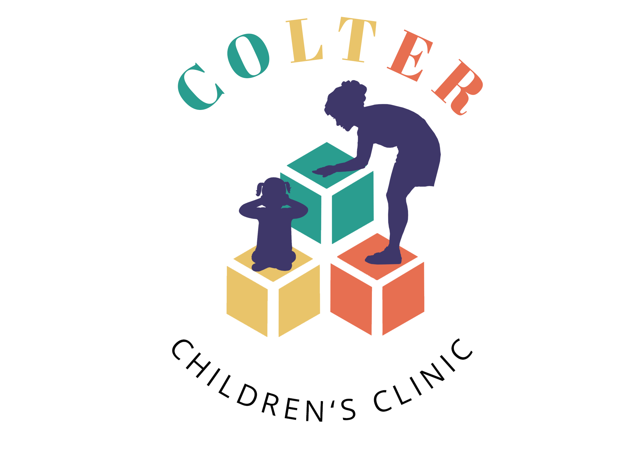 Colter Children's Clinic Logo White Back
