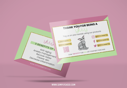 Yitty Committee Thank You Card Mockup