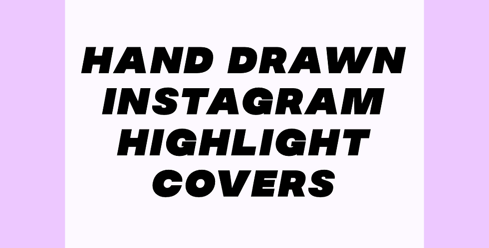 Hand Drawn Instagram Story Highlight Covers
